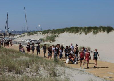 Stichting Avavieren wandeling strand