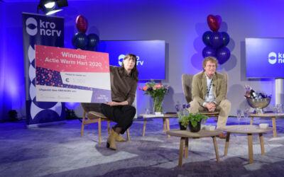 Stichting Avavieren wint 2de prijs bij de actie Warm Hart KRO-NCRV.